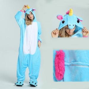 Unisex kigurumi Blue Pegasus onesies animal onesies pajamas