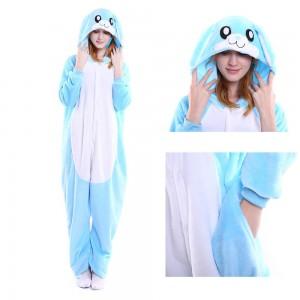 Unisex Blue Rabbit kigurumi onesies animal pajamas