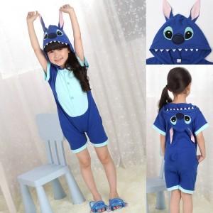 Blue Stitch Onesies Short Sleeves Pajamas
