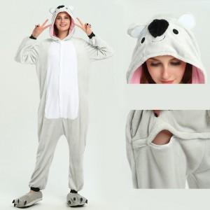Unisex kigurumi Grey Koala onesies animal pajamas