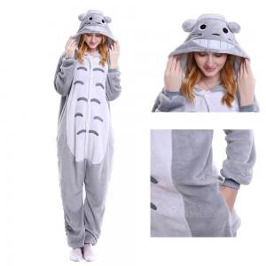 Unisex kigurumi Grey Totoro onesies animal onesies pajamas