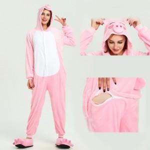 Unisex Pink Pig kigurumi onesies animal pajamas