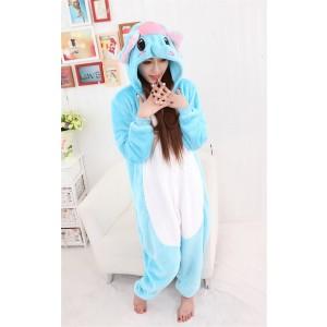 Unisex kigurumi Sky Blue white Dumbo Elephant onesies animal onesies pajamas
