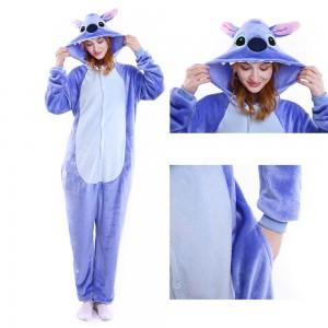 Kigurumi Onesie Lilo and Stitch Blue Unisex Adults Onesie Pajama