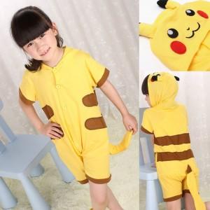 Pikachu Animal Onesie Pajama Kigurumi Short Sleeve for Kids
