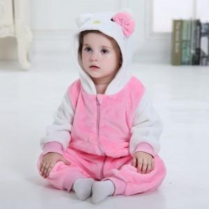 Pink Baby Kitty Cat Kigurumi Onesie Pajamas Animal Onesies Costume