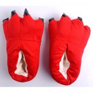 Red Animal Onesies Kigurumi slippers Plush Shoes