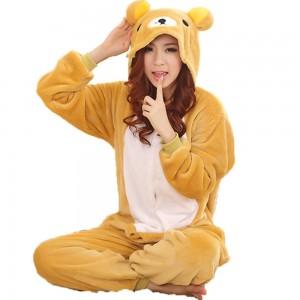 Rilakkuma Pajamas Animal Onesie Sleepwear Kigurumi Costume