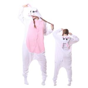 Kigurumi White Raabit Bunny Onesie Pajama Animal Costumes