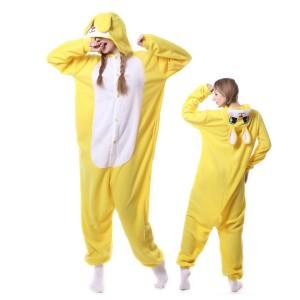 Yellow Rabbit Kigurumi Onesie Pajamas Costumes Adult Animal Onesies