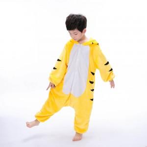 Yellow Tiger Kids Onesie animal pajamas for kids